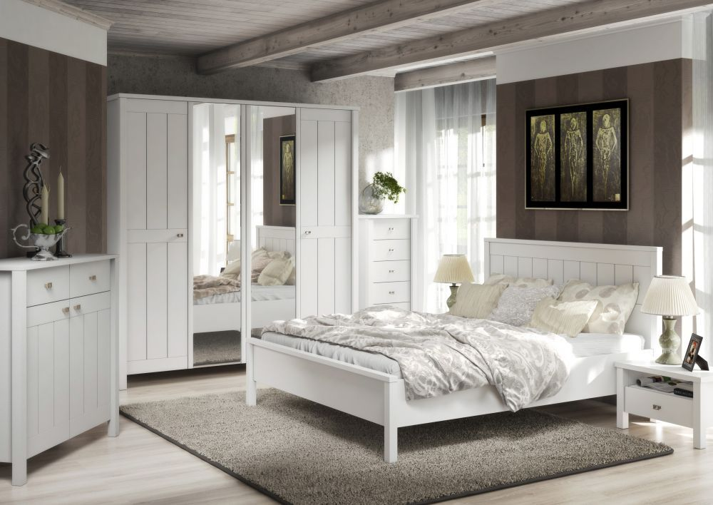 village sypialnia bia a nowo. Black Bedroom Furniture Sets. Home Design Ideas