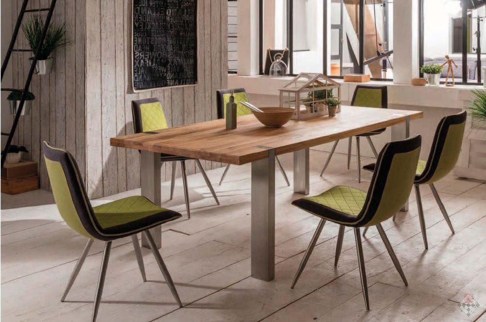 stół na 4 nogach metalowych lity dąb Nowoczesne Słupskie Meble