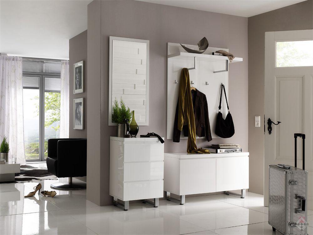 majorka przedpok j bia y wysoki po ysk. Black Bedroom Furniture Sets. Home Design Ideas