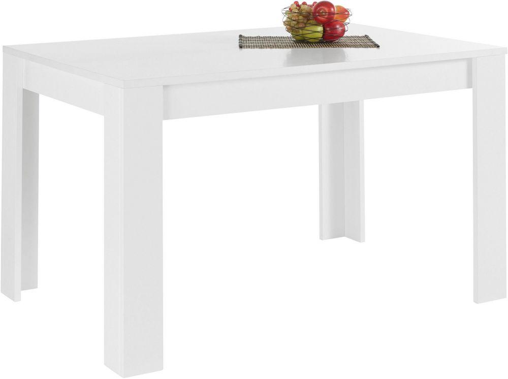 Bella Stół Rozkładany 140 Cm Biały Wysoki Połysk