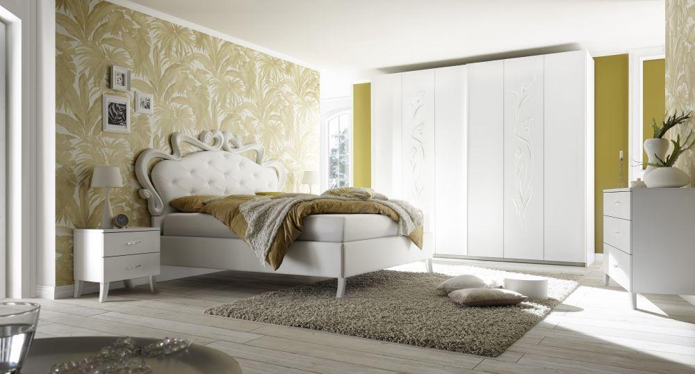 Selene Włoskie łóżko 180x200 Lakier Biały Mat